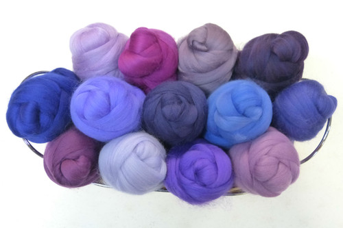 Merino wool Mixed Bag in Purple Tones
