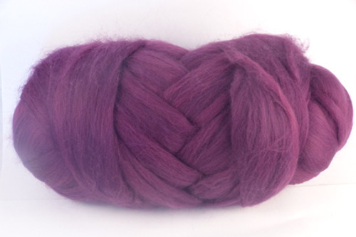 """Aubergine --French for """"eggplant""""... can we say more?.  18.5 micron Merino Wool Tops."""