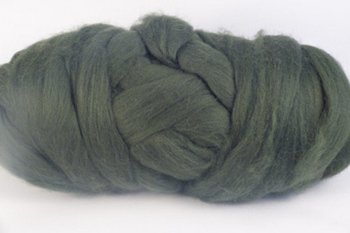 Gum Nut--Dark leafy green with no yellow undertones.  Merino Wool Tops.