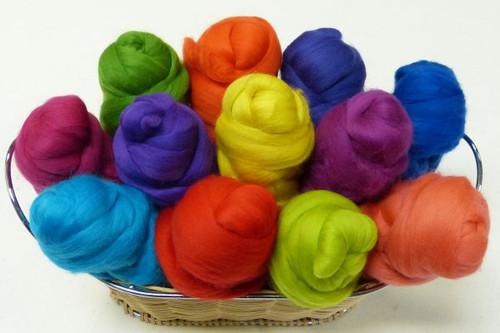 Merino wool Mixed Bag in vivid Tones.