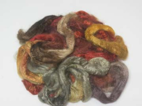 Silk Grab Bag in Earthy tones