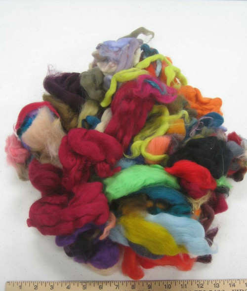 Merino wool roving bag o bits