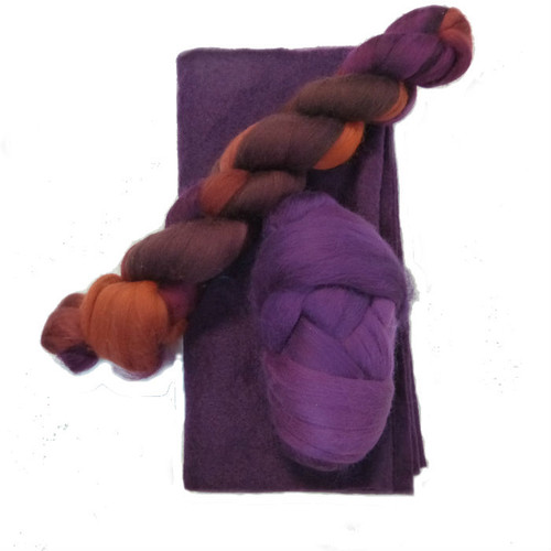 Aubergine Ruffle Scarf Kit