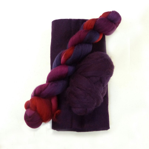 Boysenberry Ruffle Scarf Kit