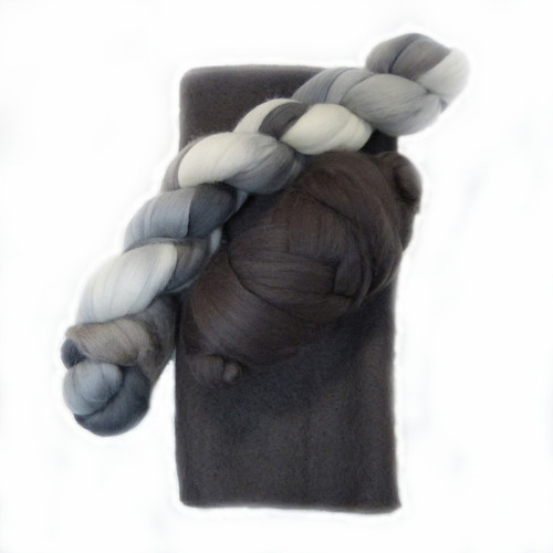 Graphite Ruffle Scarf Kit