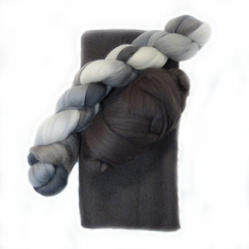 Graphite Ruffle Scarf Kit