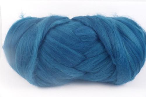 Mallard--Medium teal leaning more blue than green.  18.5 micron Merino Wool Tops.