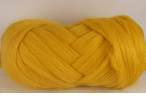 Mango--Rich yellow...just like the inside of a ripe mango.  18.5 micron Merino Wool Tops.
