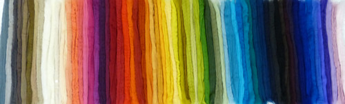 Merino wool palette of 50 colors