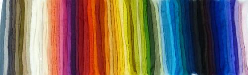 Merino wool palette of 50 colors