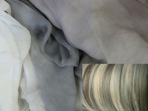 Silk Gauze Neck-Knack Felting Kit--Chinchilla