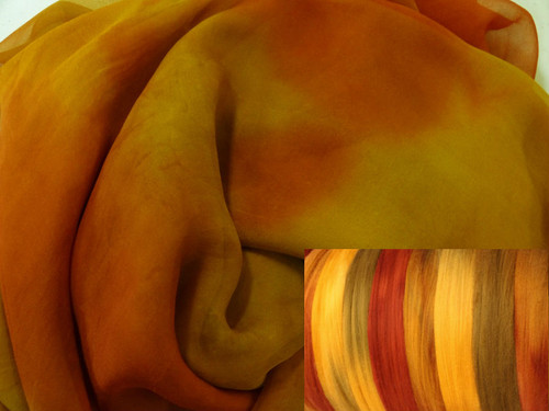 Silk Gauze Neck-Knack Felting Kit--Spice Market