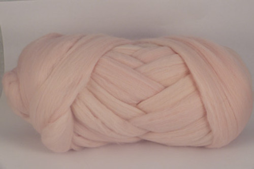 Mimosa--Very soft pastel pink. Think... baby girl....  18.5 micron Merino Wool Tops.