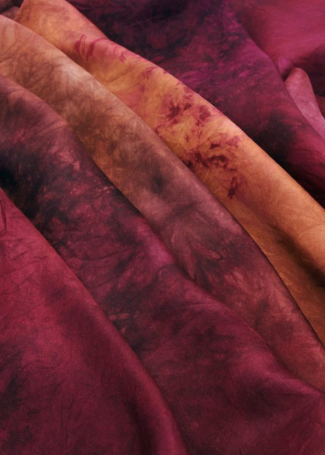 Tamarillo Habotai silk fabric. Luxurious and elegant feel with a refined luster.