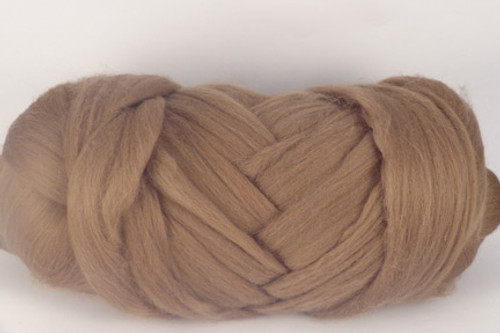Mocha--Cappuccino brown. Soft and creamy.  Merino Wool Tops.