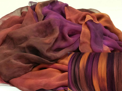 Silk Gauze Neck-Knack Felting Kit--Tamarillo