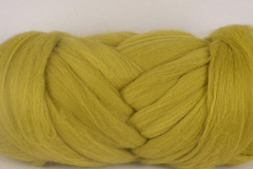 Avocado --Darker version of Citronella.  18.5 micron Merino Wool Tops.