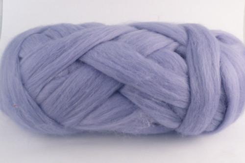 Nabowla Lavender--Pale pastel purple with slight blue undertones.  18.5 micron Superfine Merino Wool Tops.