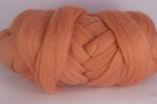 Nectar--Soft apricot.  18.5 micron Merino Wool Tops.