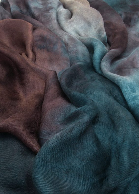 Silk mesh fabric. Open weave, lightweight,  lustrous. Tempest color
