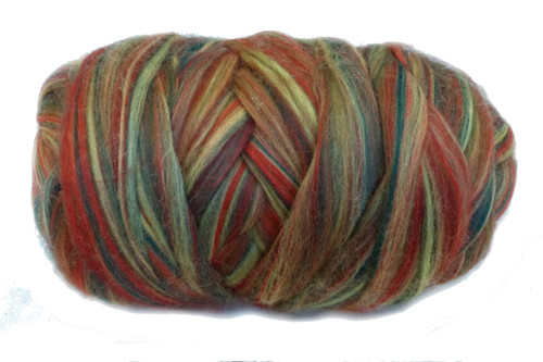 Merino wool blend. Color is Boronia