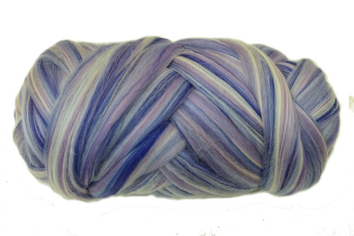 Merino wool blend. Color is Jacaranda