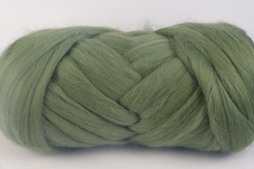 Oregano--Leafy green with grey undertones.  18.5 micron Merino Wool Tops.