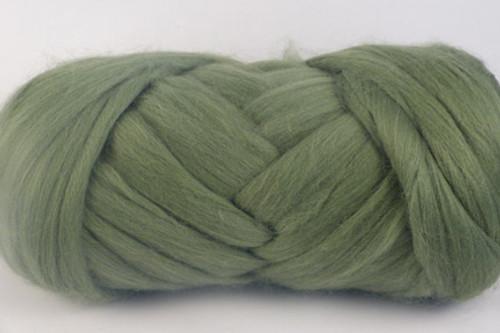 Oregano--Leafy green with grey undertones.  18.5 micron Merino Wool Tops.
