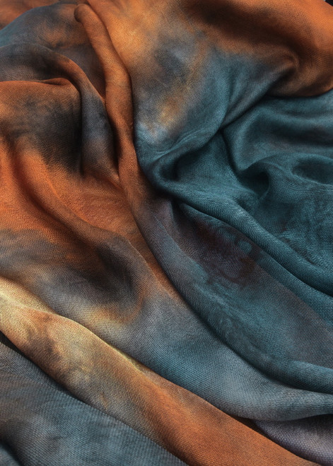 Silk mesh fabric. Open weave, lightweight,  lustrous. Walkabout color