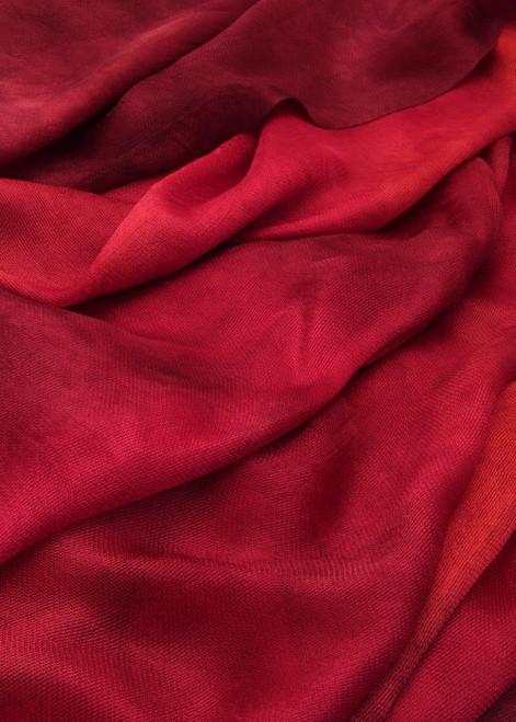 Silk mesh fabric. Open weave, lightweight,  lustrous. Heartache color