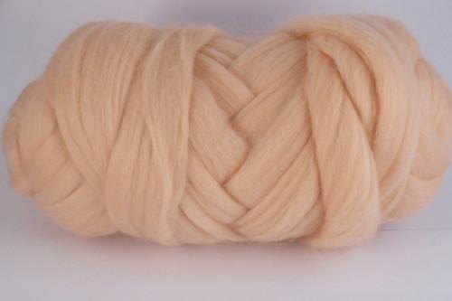 Paperbark--Peachy beige.  22 micron Merino Wool Tops.