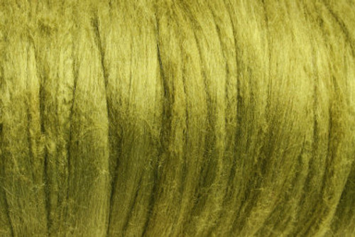 Bombyx silk tops for feltmakers. This dyed color harmony is Wasabi