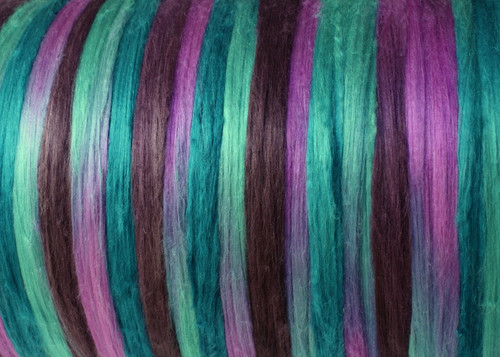 Bombyx silk tops for feltmakers. This dyed color harmony is Opal
