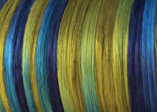 Bombyx silk tops for feltmakers. This dyed color harmony is Sea Grass