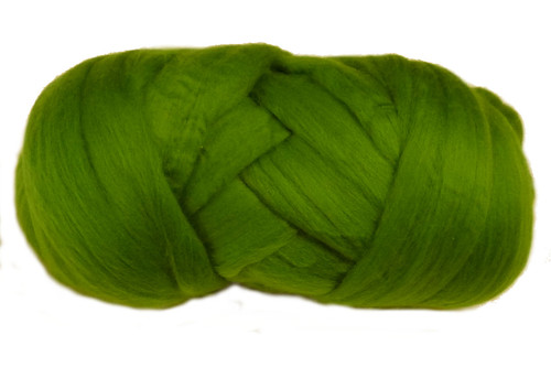 Parrot--Bright tropical green - just like the bird.  18.5 micron Merino Wool Tops.