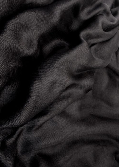 Silk mesh fabric. Open weave, lightweight,  lustrous. Color is Basic Black