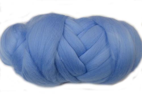 Hydrangea--Soft pastel blue.  18.5 micron Merino Wool Tops.