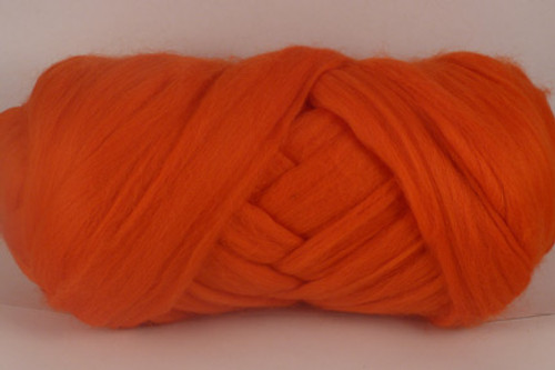 Ayers Rock--Tangelo orange - very bright.  18.5 micron Merino Wool Tops.