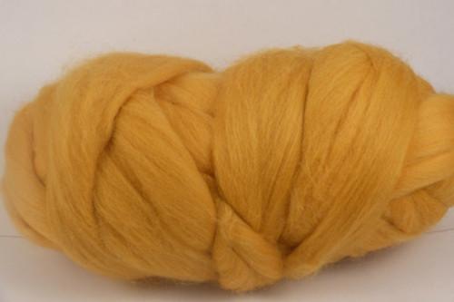 Peach--Soft peachy orange.  22 micron Merino Wool Tops.