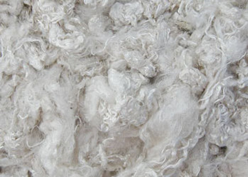 Undyed Throwsters waste silk fiber texture for feltmakers