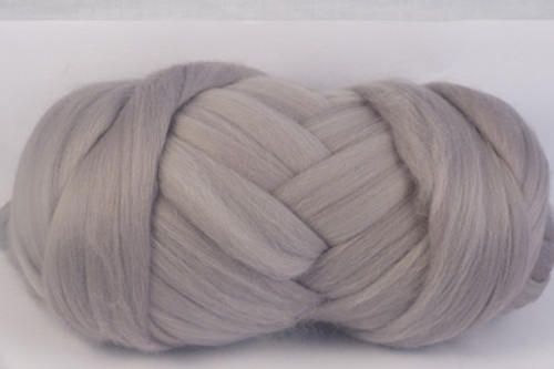 Pebble--Light grey - no blue undertones.  18.5 micron Merino Wool Tops.