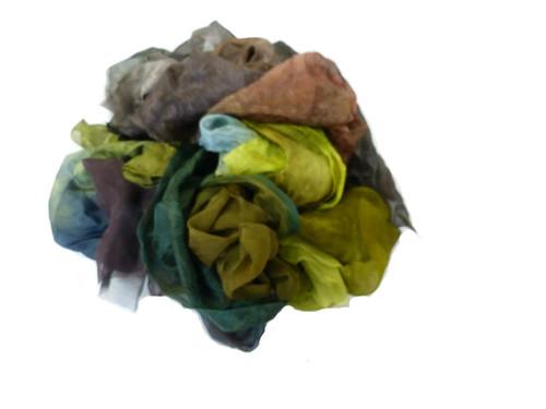 Silk fabric pieces--Earth Tones