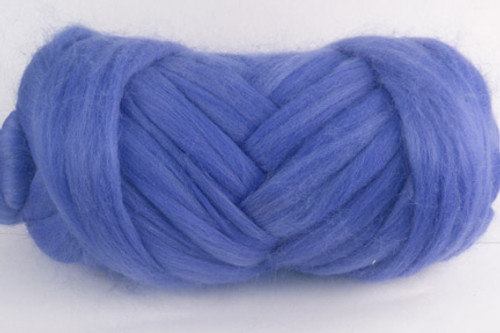 Periwinkle--The perfect shade of cornflower blue.  18.5 micron Merino Wool Tops.
