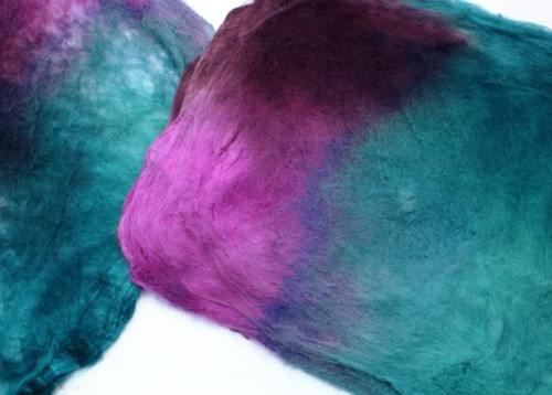 Silk hankies.  This color harmonies color is Opal