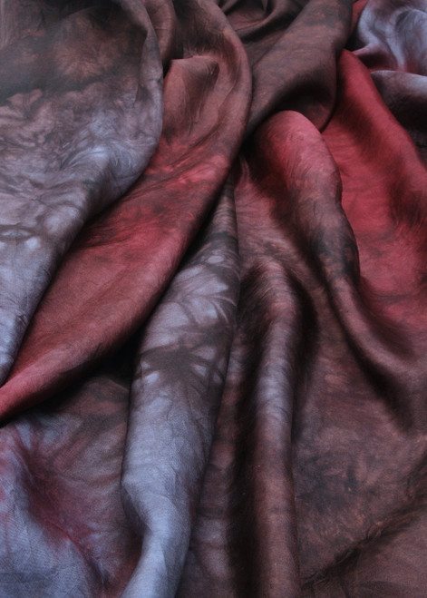 Banded Iron Habotai silk fabric. Luxurious and elegant feel with a refined luster.