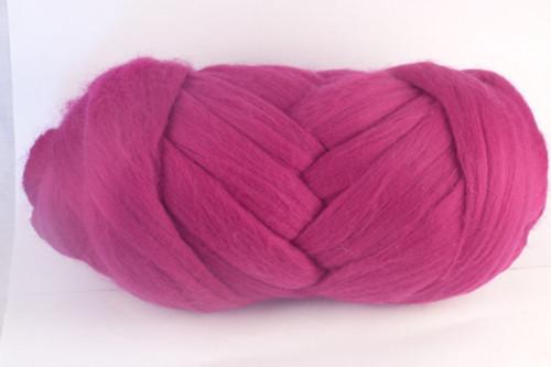 Pinot--Almost fuchsia shade of crushed berries.  18.5 micron Merino Wool Tops.