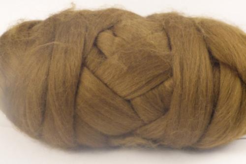 Platypus--Brown with plenty of green undertones.  18.5 micron Merino Wool Tops.