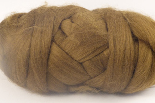 Platypus--Brown with plenty of green undertones.  18.5 micron Merino Wool Tops.