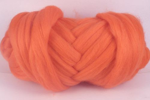 Prawn Cocktail--Bright salmon.  18.5 micron Merino Wool Tops.