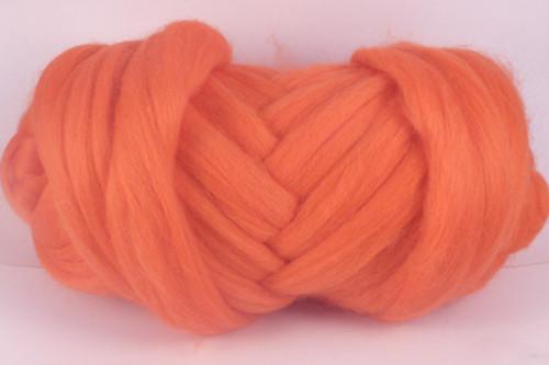 Prawn Cocktail--Bright salmon.  18.5 micron Merino Wool Tops.